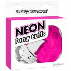 esposas-neon-furry-cuffs fucsias en cajas