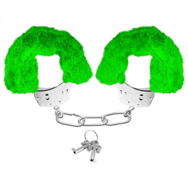 esposas-neon-furry-cuffs verdes