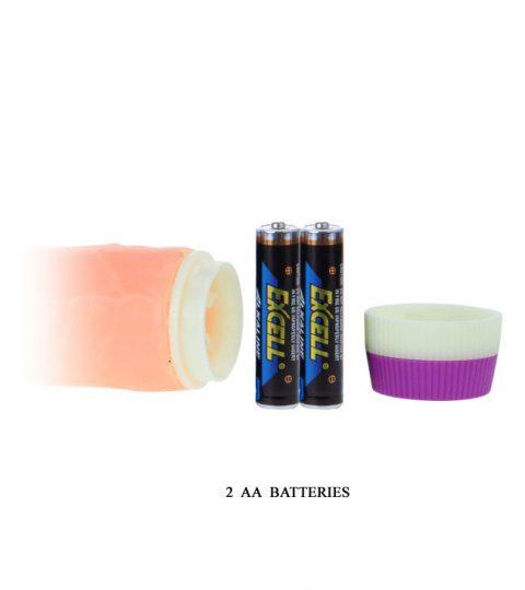 Baterias Vibrador Realistic Penis baile